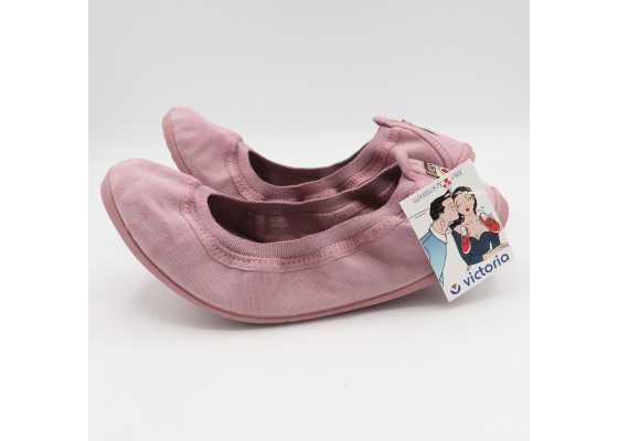 Balerini roz din bumbac vopsit