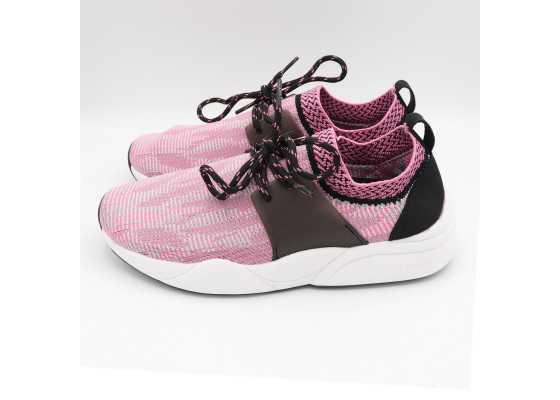 Pantofi sport roz din material elastic