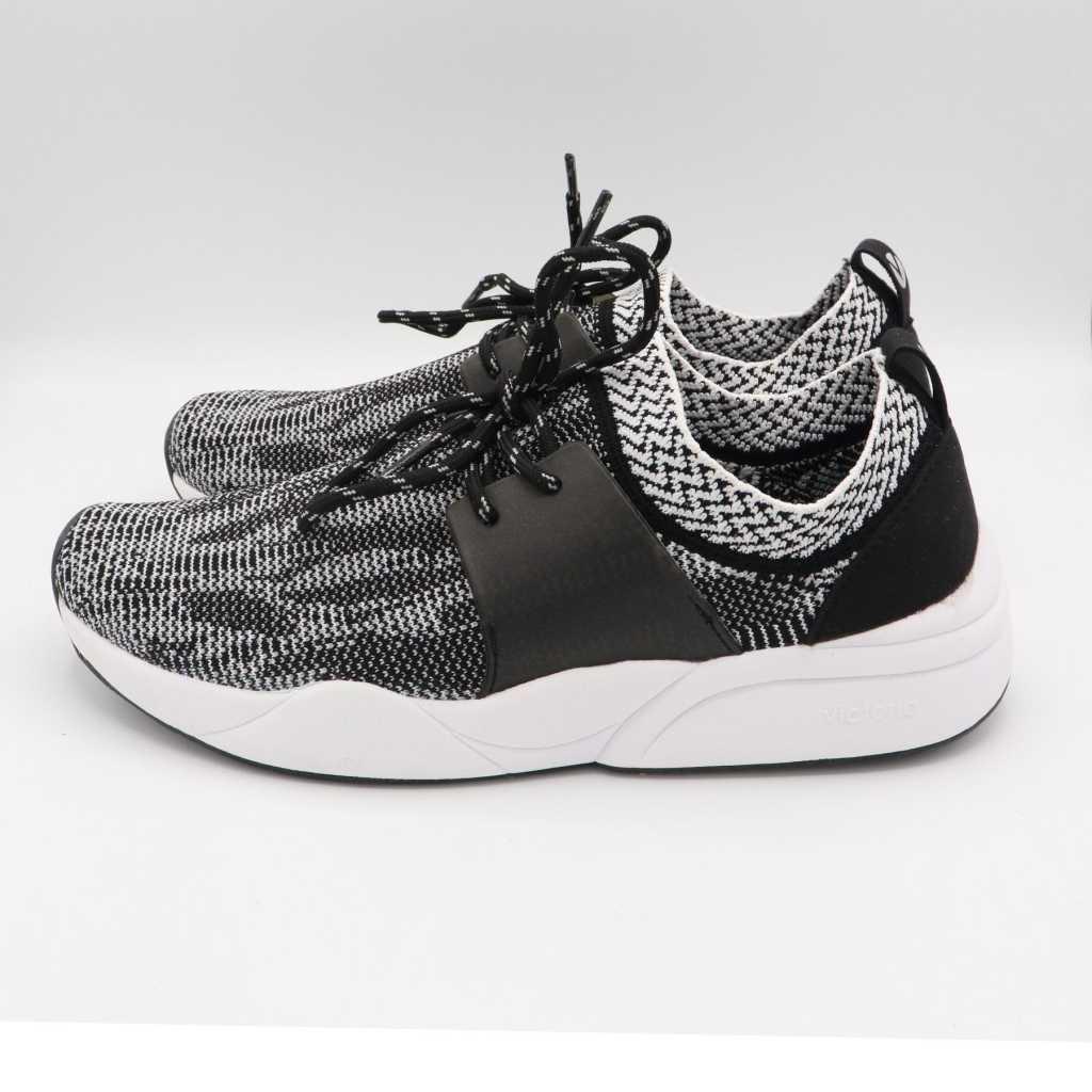 Pantofi sport negri din material elastic