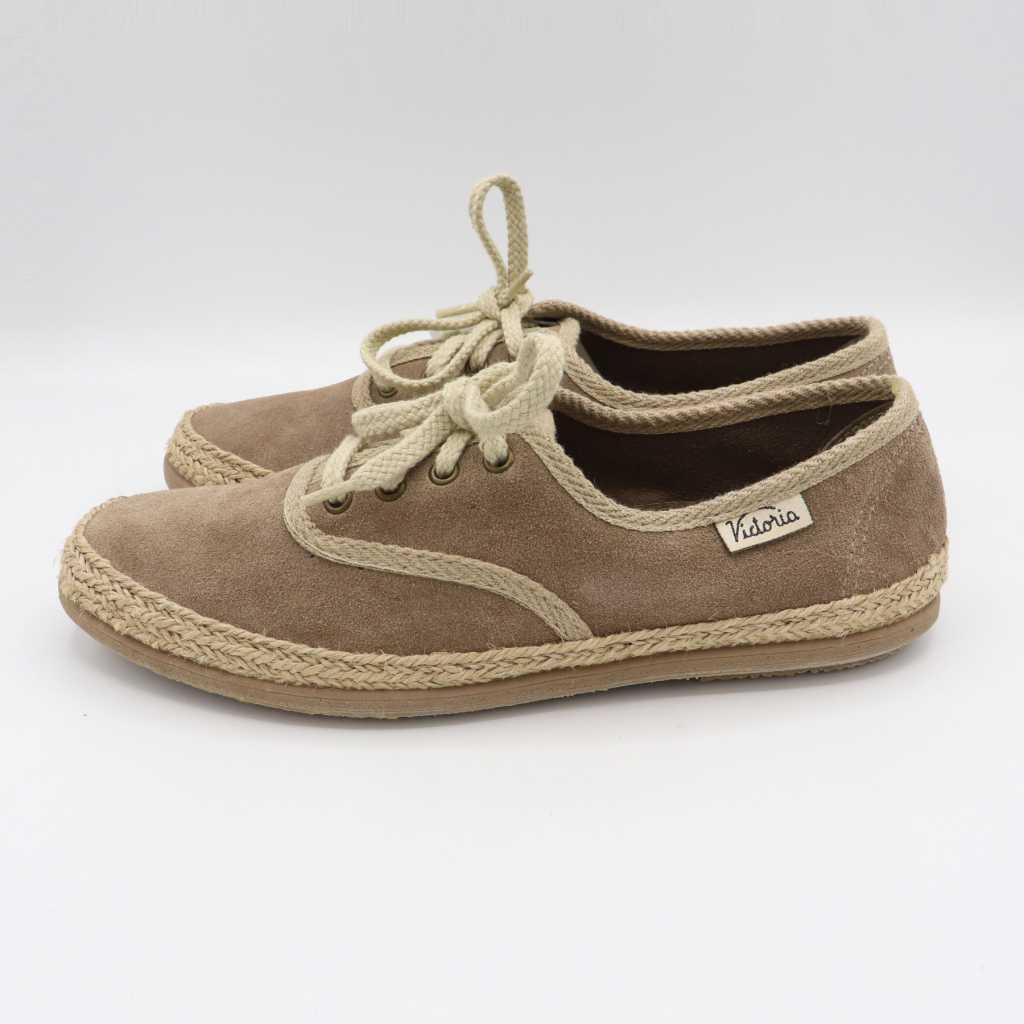Pantofi retro maro din piele întoarsă