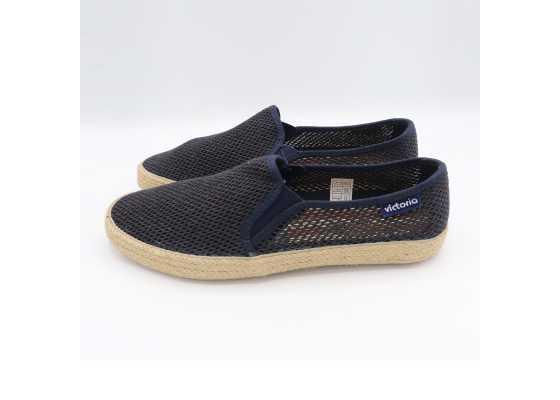 Pantofi slip on bleumarin cu model plasă