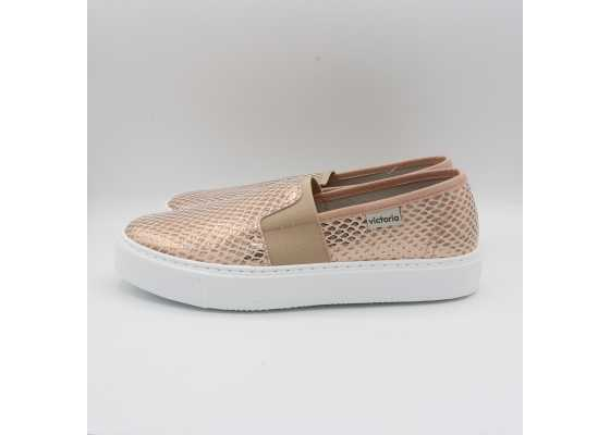 Pantofi slip on somon metalic