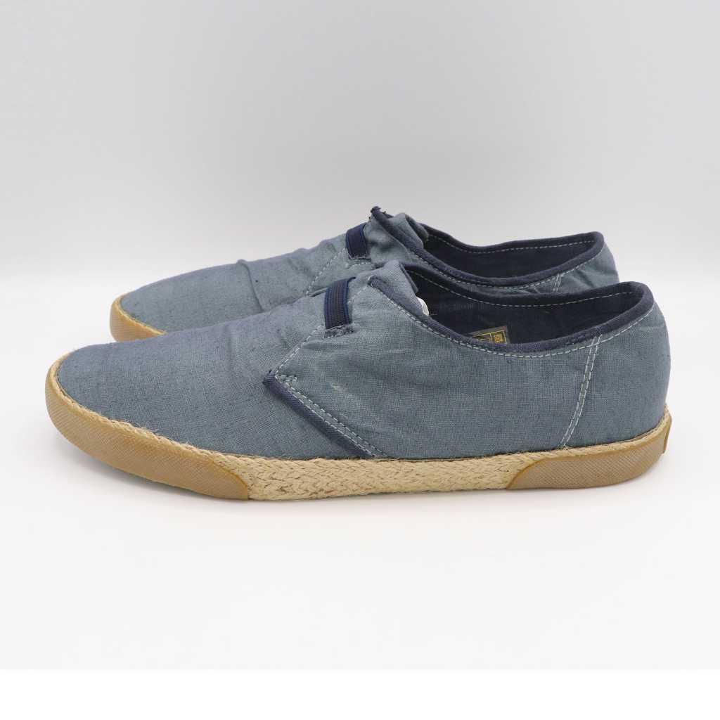 Pantofi slip on gri-albaștri